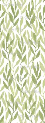 Watercolor Leaf, Celery