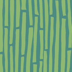 Dancing Stripes Blue-Green