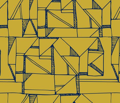 Bauhaus Blue and Yellow fabric by amy_maccready on Spoonflower - custom fabric
