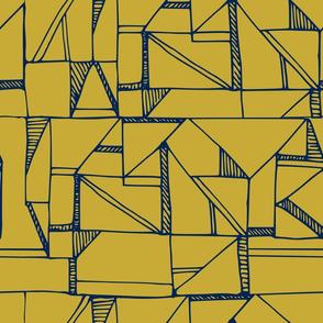 Bauhaus Blue and Yellow