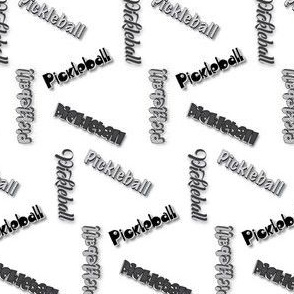 Pickleball Multi-Font BW Non_Liniar