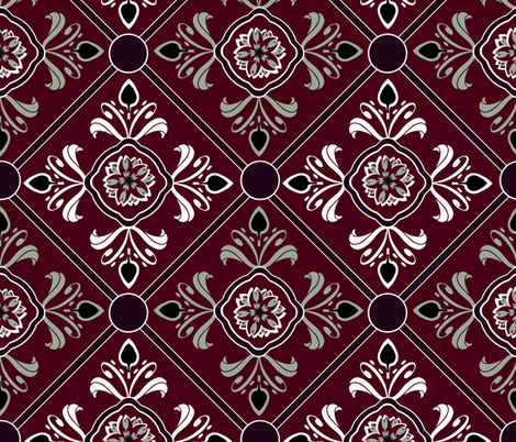 Elegant Tiling fabric by cricketswool on Spoonflower - custom fabric