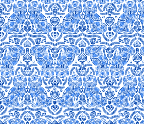 Staffordshire Luv Dogs fabric by enid_a on Spoonflower - custom fabric