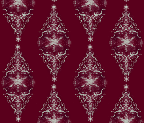 snow diamond fabric by angelica_callis on Spoonflower - custom fabric