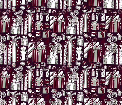 lotsa boxes dark cherry fabric by margiecampbellsamuels on Spoonflower - custom fabric
