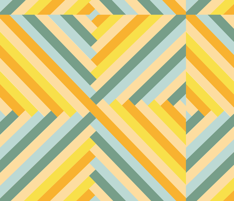Maypole in Lemon fabric by saflo_creations on Spoonflower - custom fabric