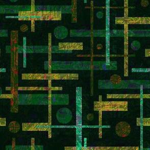 Modern Retro: Green Scribble