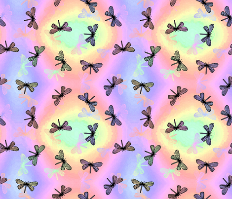 Dragonfly wings fabric by kittycansew on Spoonflower - custom fabric