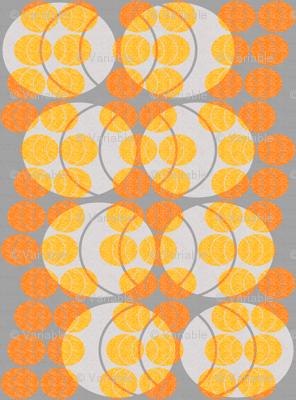 open ellipses -  orange on gray