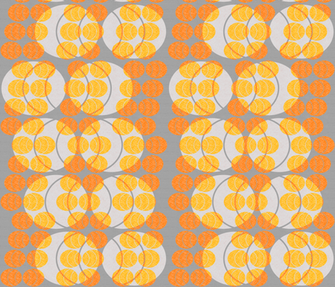 open ellipses -  orange on gray fabric by variable on Spoonflower - custom fabric