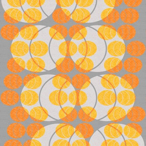 open ellipses -  orange on gray