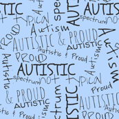 Autistic and proud // blue