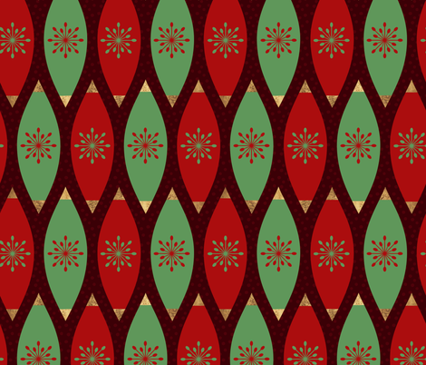 Classic Christmas Ornaments fabric by thewellingtonboot on Spoonflower - custom fabric