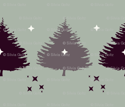 Christmas trees with stars