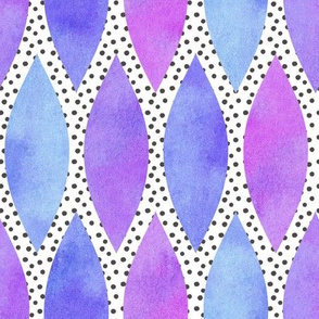 Purple Watercolour Scales