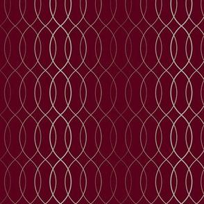 Elegant Holiday Stripe