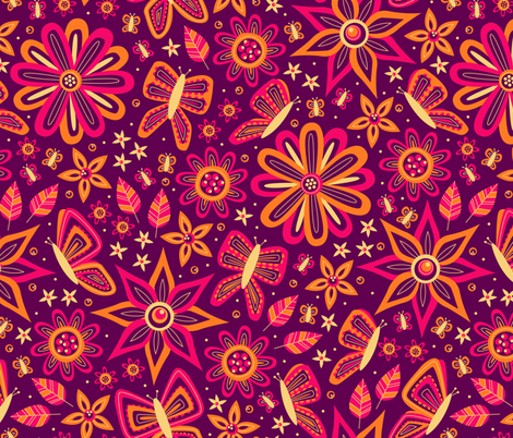 Butterfly Delight fabric by robyriker on Spoonflower - custom fabric