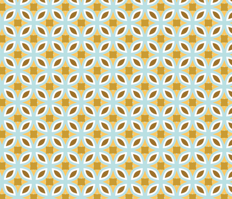 1-15 Flowers in a circle fabric by lazuliprints on Spoonflower - custom fabric