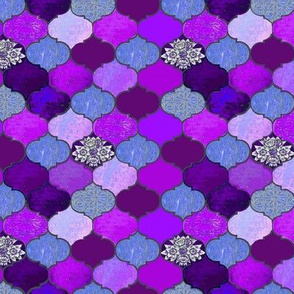 Moroccan lavender Tiles in purple // Marrakesh