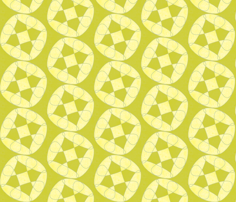 large green flowery dots fabric by variable on Spoonflower - custom fabric