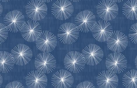 Dandelions M+M Navy Blue by Friztin fabric by friztin on Spoonflower - custom fabric