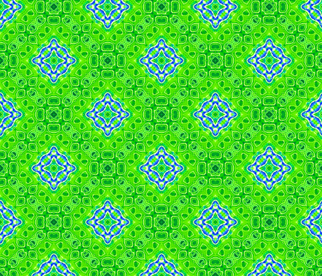 Green Geode Bordered Diamonds fabric by just_meewowy_design on Spoonflower - custom fabric