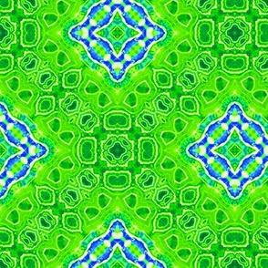 Green Geode Bordered Diamonds