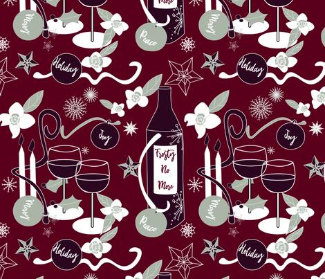 Frosty No More fabric by stasiajahadi on Spoonflower - custom fabric