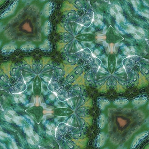 Green Glass Kaleidoscope