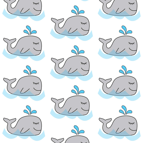 water spout whales fabric by lilcubby on Spoonflower - custom fabric