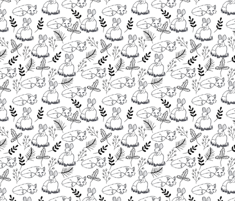 The fox and the bunny fabric by sarahxarts on Spoonflower - custom fabric