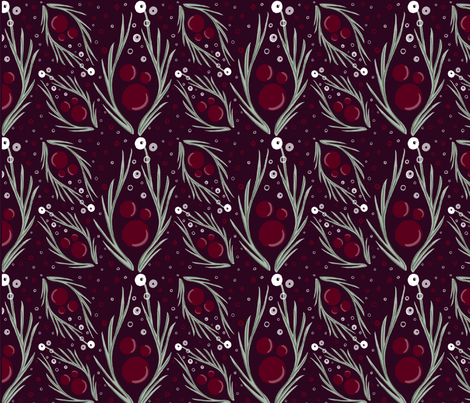 Cranberry Bubbly fabric by aliece_b_design on Spoonflower - custom fabric