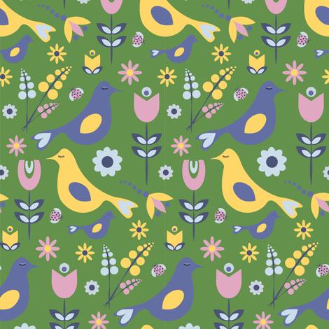 Don't Feed the Birds fabric by screamingsquirrelstudio on Spoonflower - custom fabric