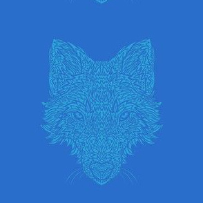 Blue Wolf on Blue