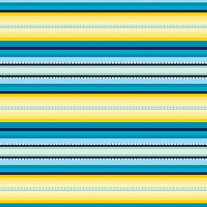 Peru Skinny Stripe Aqua Yellow