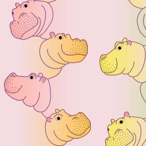 Hippoline - Pink Pastel Rainbow - big