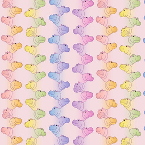 Hippoline - Pink Pastel Rainbow - small