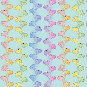 Hippoline - Blue Pastel Rainbow - small