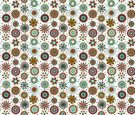 brown discs 6x6 fabric by leroyj on Spoonflower - custom fabric