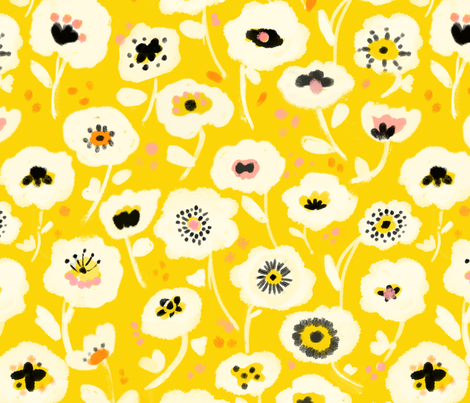spring blooms fabric by alison_janssen on Spoonflower - custom fabric