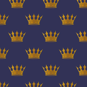 Royal Blue Gold Crowns