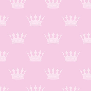Princess Charlotte Pale Pink Crowns on Pink