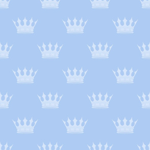 Prince Louis Blue Crowns on Baby Blue