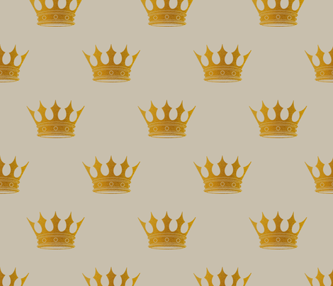 George Grey Royal Golden Crowns fabric by paper_and_frill on Spoonflower - custom fabric