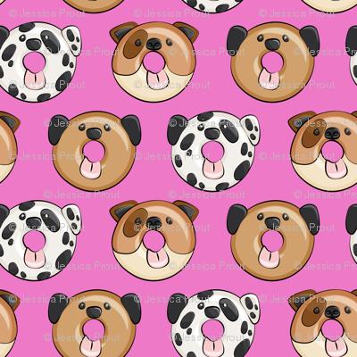 dog donuts - hot pink