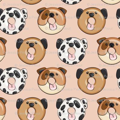 dog donuts - blush