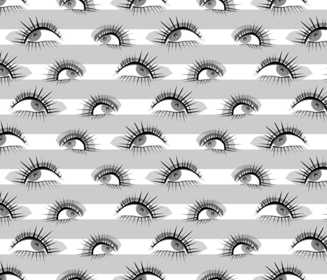 Watchful Stripes fabric by studioxtine on Spoonflower - custom fabric