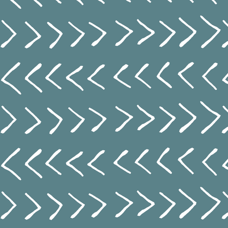 Arrows on Horizon Blue // Large fabric by thinlinetextiles on Spoonflower - custom fabric