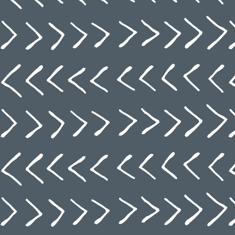 Arrows on Fiord Blue // Small fabric by thinlinetextiles on Spoonflower - custom fabric