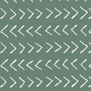Arrows on Laurel Green // Large